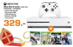 Console Xbox One S  + 4 Jeux (Forza, Gears of War 4, Battlefield 1 et Fifa 17)