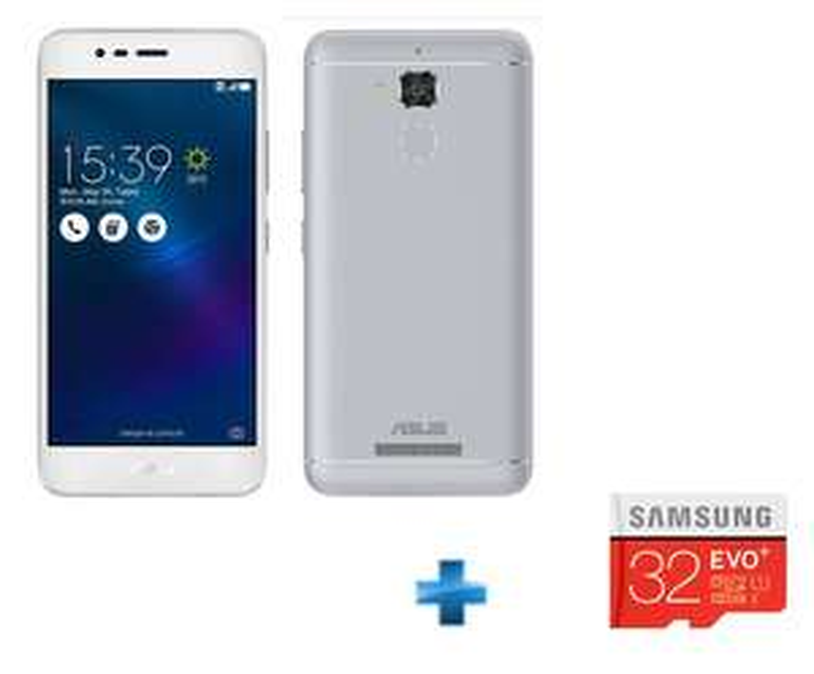 "Smartphone 5,2"" Asus Zenfone 3 Max - Double SIM, ROM 32 Go, RAM 3 Go + Carte microSDHC 32 Go Samsung Evo+"