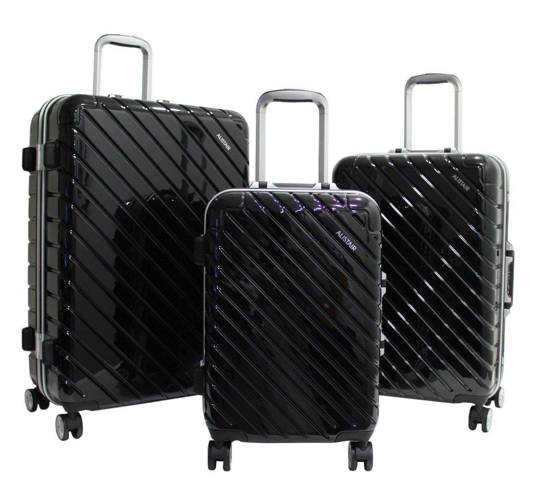 Set de 3 Valises Alistair Infinity - ABS Ultra Légères, 4 Roues, Noir