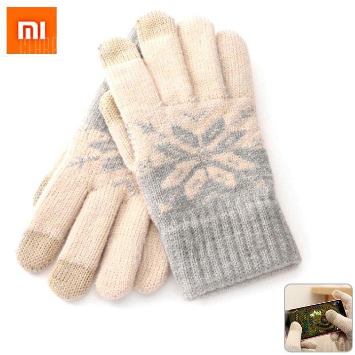 Gants tactiles en laine Xiaomi - Beige