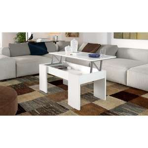 Table basse transformable Swing 100x50 cm - Blanche