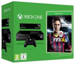 Pack Console Microsoft Xbox One + Kinect + FIFA 14 + Gears of War 4 ou Forza Motosport 6