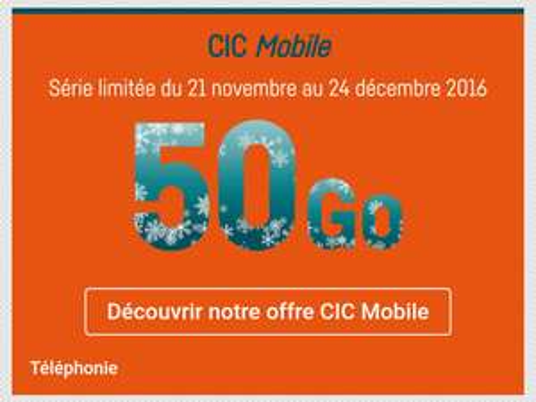 Forfait mobile mensuel Appels/SMS/MMS illimités + Internet 50 Go sur réseau SFR (sans engagement)
