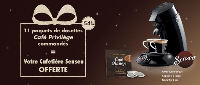 Cafetière Senseo offerte + 11 paquets de dosettes