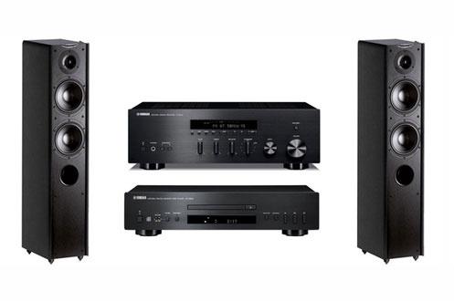 Pack Hifi Yamaha : Platine CD S300 + Ampli R-S300 + Paire d'enceintes colonnes Cabasse MT3