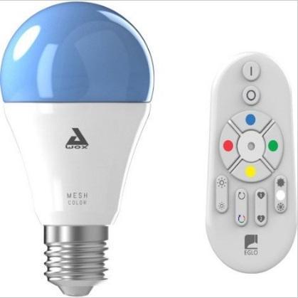 Ampoule connectée Eglo Connect à changement de couleur - E27, 806Lm + Télécommande