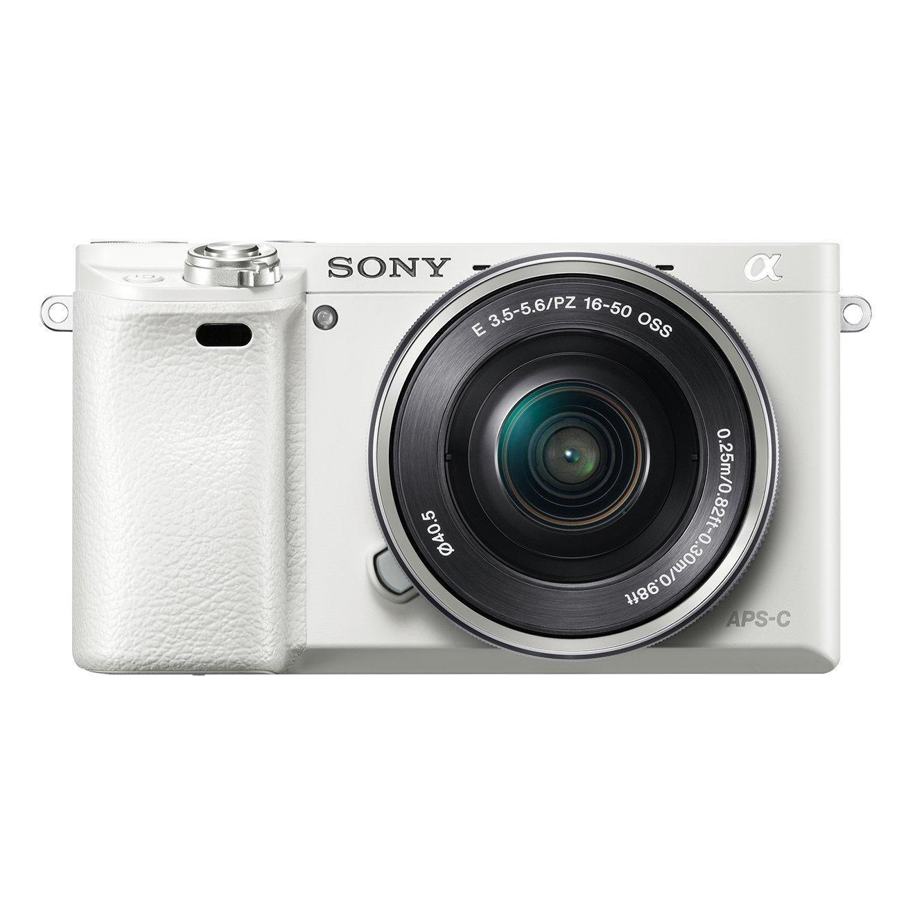 Appareil Photo Numérique Hybride Sony Alpha ILC-E6000 Blanc + Objectif SEL-P 16-50mm