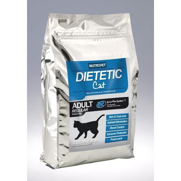 Sachet de croquettes pour chat Nutrivet Dietetic Cat Adult Regular - 15 kg