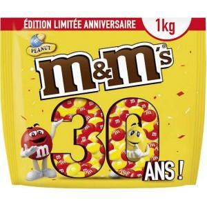 Sachet de 1kg de M&M's - Edition 30ème anniversaire