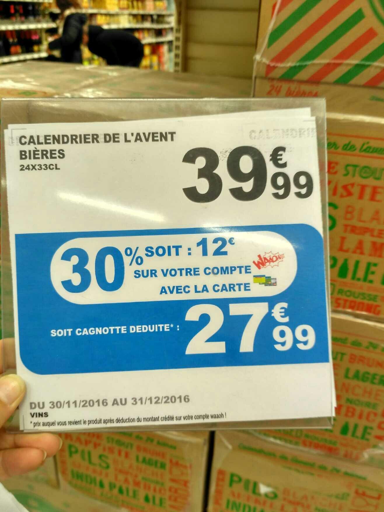 Calendrier de l'Avent Bières - 24x33cl (via 12€ fidélité)