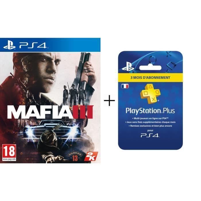 Jeu Mafia III sur PS4 + Abonnement PlayStation Plus 3 mois