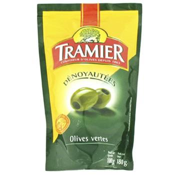 Bon de réduction d'1€ valable sur les produits Tramier - Ex : Sachet de 100g d'olives vertes dénoyautées Tramier