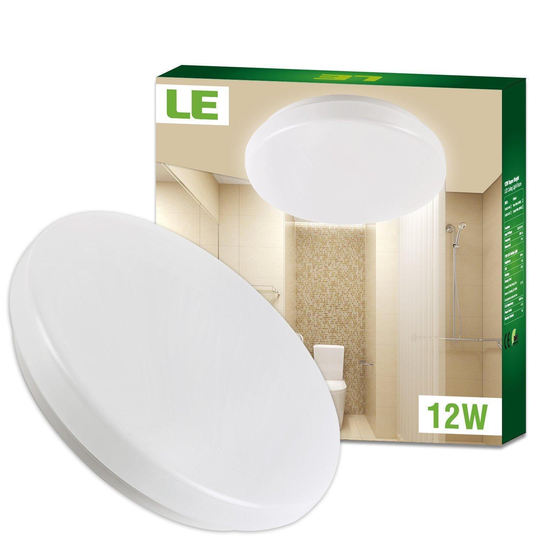 Plafonnier LED LE - 12W, Imperméable IP44, 950 LM, 3000K - Livraison incluse
