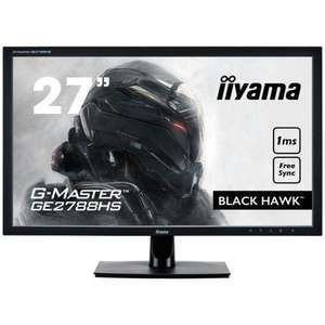 "Ecran PC 27"" Iiyama GE2788HS-B2 G-Master Black Hawk - FreeSync, Full HD, DVI/HDMI/VGA, 1ms"
