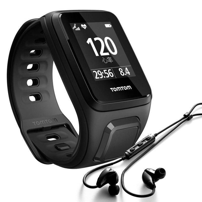 Montre GPS TomTom Spark Musik avec ecouteur - Bracelet Small Noir