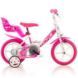 """Vélo 12"""" pour enfant OOgarden Dino - rose"""