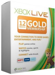 Abonnement Xbox Live 12 Mois Gold