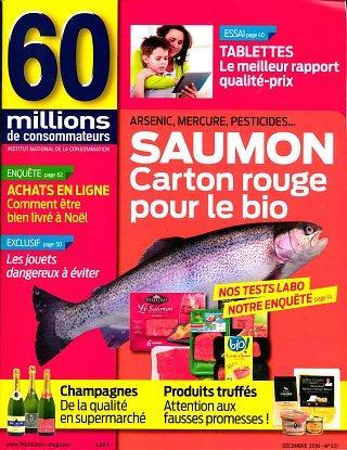 Abonnement d 39 un an 11 num ros au magazine 60 millions de - Abonnement 60 millions de consommateur ...