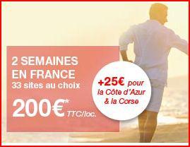 2 semaines en France au bord de la mer pour 2/4 personnes