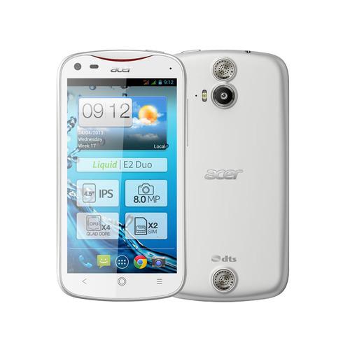 """Smartphone (Quad Core) Acer Liquid E2 Duo Blanc - 4,5"""""""