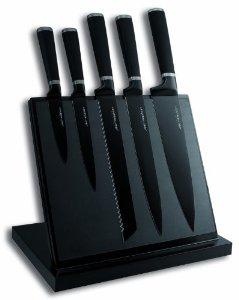 Bloc Aimanté 5 Couteaux de Cuisine Tarrerias Bonjean Lame Noir -