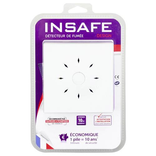 détecteur  Insafe fumée 10 ans