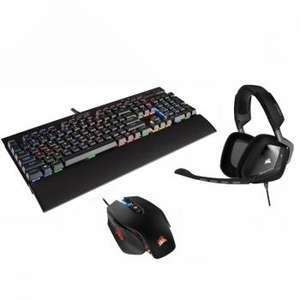 Pack Corsair Gaming : Clavier Gaming K70 RGB Rapidfire MX Speed + Souris M65 Pro RGB + Casque filaire Void Carbon