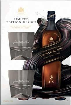 coffret bouteille de whisky johnnie walker black label 12 ans avec 2 verres 70 cl via bdr. Black Bedroom Furniture Sets. Home Design Ideas