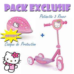 Pack Patinette + Casque - Hello Kitty