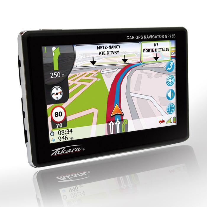 "GPS Takara GP73 4,3"" - Cartographie à Vie"