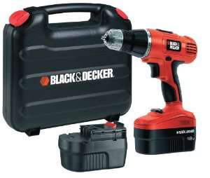 Perceuse visseuse à percussion sans fil Black & Decker EPC188BK (2 Batteries + Boîte)