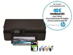 imprimante multifonction 3en1 Wi-Fi PhotoSmart 5520 + Pack de 4 cartouches noir et couleurs HP364 (avec ODR 40€)