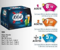 3 packs de Bières 1664 (20x25cl) soit 60 bières