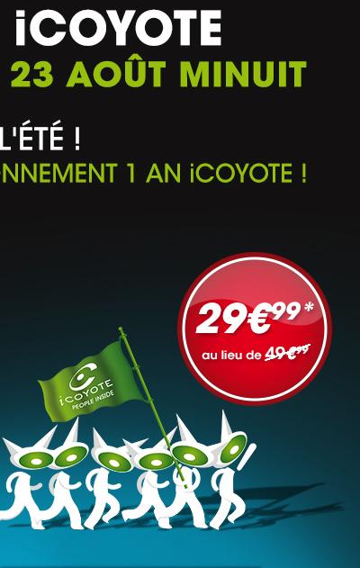 Application iCoyote sur iOS, Android et BlackBerry + abonnement 12 mois