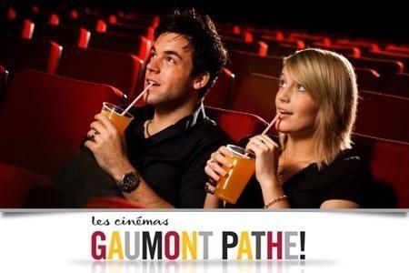 Places valables dans tous les Gaumont et Pathé, du 4 au 24/09,
