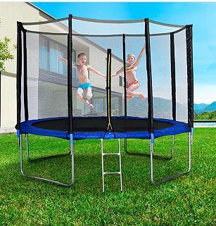 trampoline deluxe jump4fun avec filet jusqu 39 200kg 244cm de diam tre. Black Bedroom Furniture Sets. Home Design Ideas