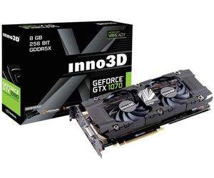 Carte graphique Inno3D GeForce GTX-1070 X2 (8 Go) + Watch Dogs 2 offert
