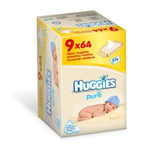 Pack de lingettes Huggies Pure (6 paquets x 64)