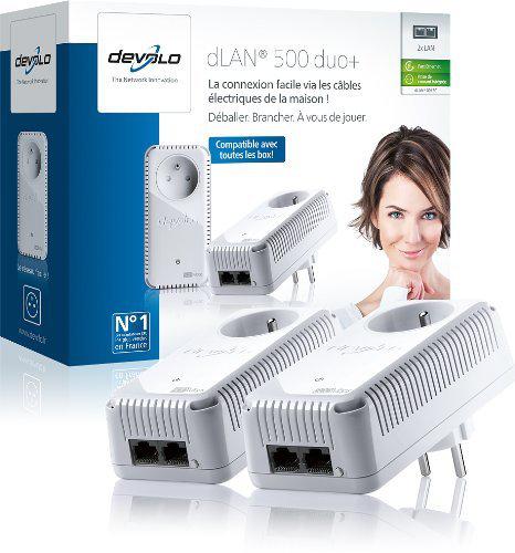 [Offre éclair] Pack de 2 adaptateurs CPL Devolo dLAN500 duo+