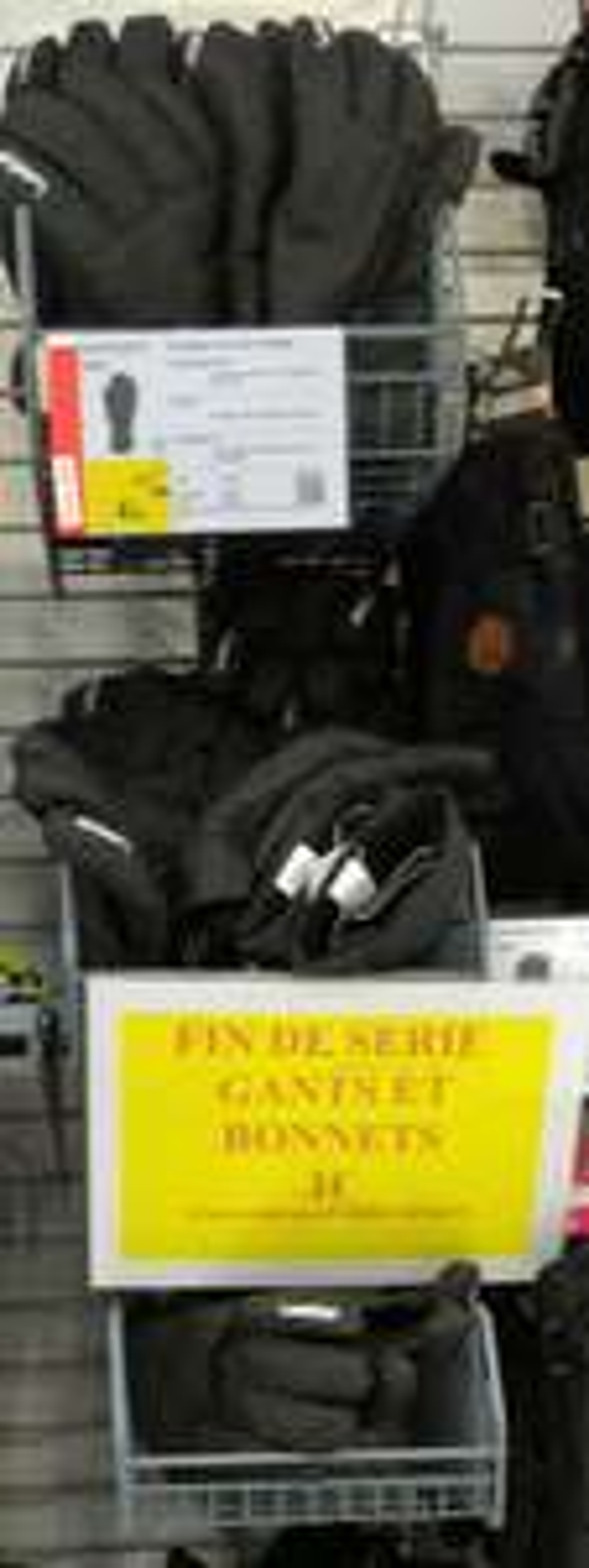 Gants d'hiver Wedze Noir pour Hommes - Tailles : XL ou XXL