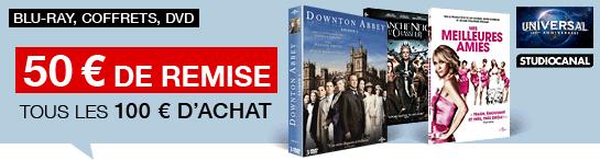 Blu-ray & DVD : 50€ de remise immédiate par tranche de 100€