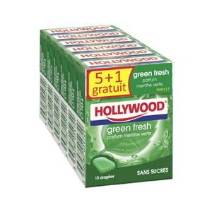 6 paquets de Chewing-gums Hollywood Fresh dragées