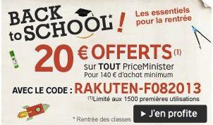 20€ offerts sur tout le site (pour 140€ d'achat)