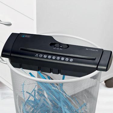 destructeur de papier adaptable 2 coloris noir ou gris. Black Bedroom Furniture Sets. Home Design Ideas