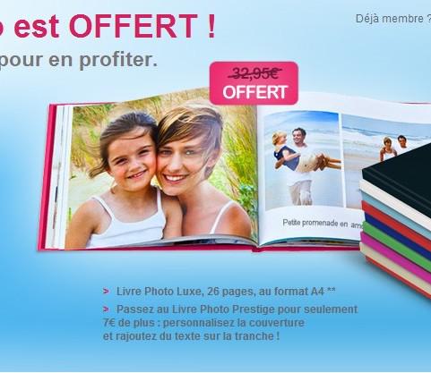 Livre photo offert pour toute inscription (5,95€ de port)