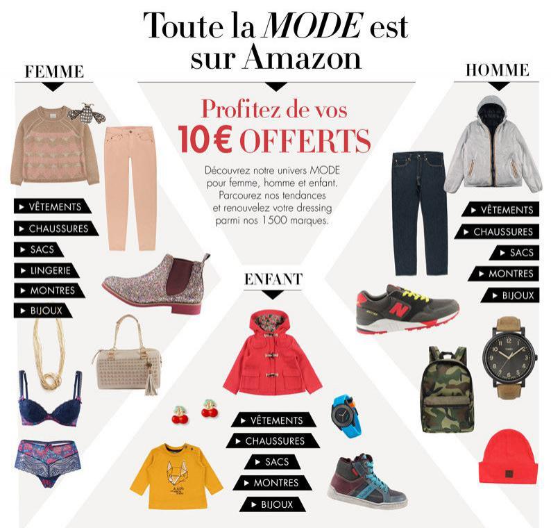 Remise de 10€ sur une sélection de vêtements