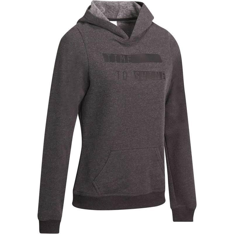 Sweat à capuche imprimé Domyos - gris foncé (taille M)
