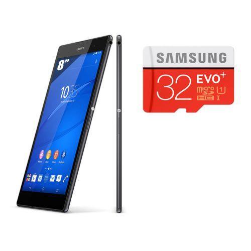 "Tablette tactile 8"" Sony Xperia Z3 - 16 Go - Wifi - Noir + Micro SD Evo Plus Classe 10 - 32 Go"