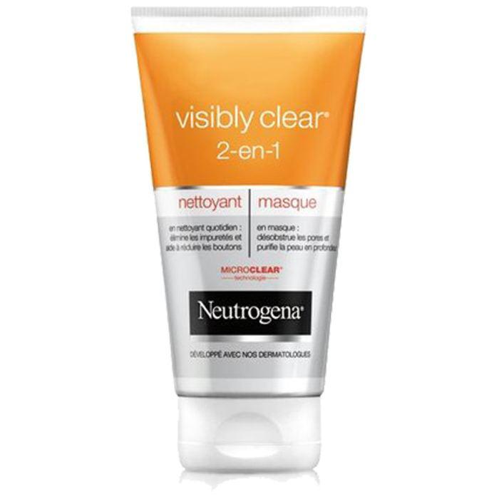 4 Tubes de nettoyant & masque Neutrogena Visibly Clear