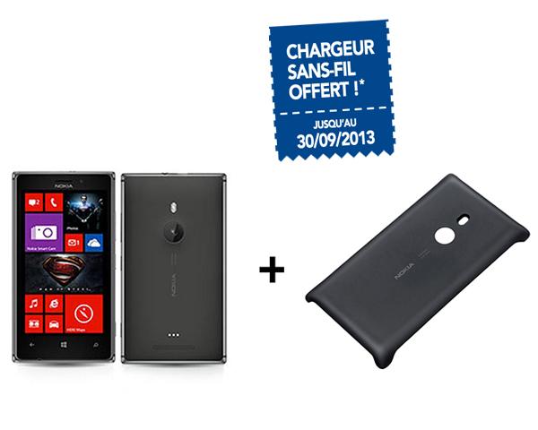 Smartphone Lumia 925 Noir ou blanc + coque + chargeur sans fil